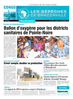 Les Dépêches de Brazzaville : Édition brazzaville du 14 novembre 2016
