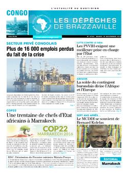 Les Dépêches de Brazzaville : Édition brazzaville du 15 novembre 2016