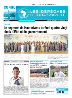Les Dépêches de Brazzaville : Édition brazzaville du 16 novembre 2016