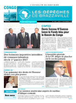 Les Dépêches de Brazzaville : Édition brazzaville du 17 novembre 2016