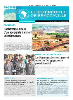 Les Dépêches de Brazzaville : Édition kinshasa du 17 novembre 2016