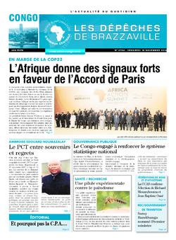 Les Dépêches de Brazzaville : Édition brazzaville du 18 novembre 2016