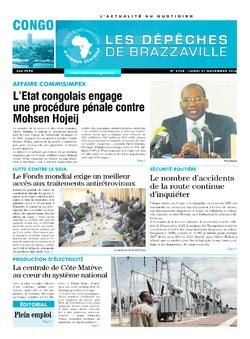 Les Dépêches de Brazzaville : Édition brazzaville du 21 novembre 2016