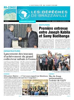 Les Dépêches de Brazzaville : Édition kinshasa du 23 novembre 2016