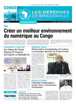 Les Dépêches de Brazzaville : Édition brazzaville du 24 novembre 2016