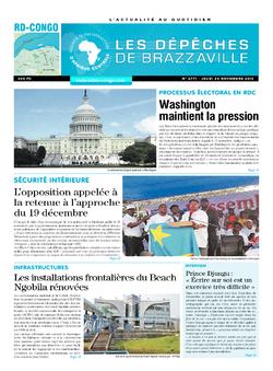 Les Dépêches de Brazzaville : Édition kinshasa du 24 novembre 2016
