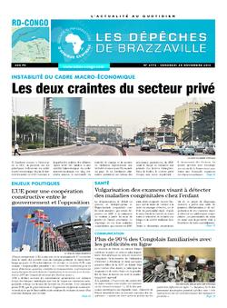 Les Dépêches de Brazzaville : Édition kinshasa du 25 novembre 2016