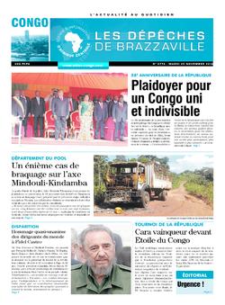 Les Dépêches de Brazzaville : Édition brazzaville du 29 novembre 2016