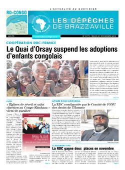 Les Dépêches de Brazzaville : Édition kinshasa du 29 novembre 2016