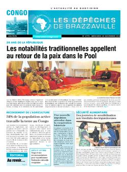 Les Dépêches de Brazzaville : Édition brazzaville du 30 novembre 2016