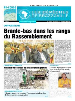 Les Dépêches de Brazzaville : Édition kinshasa du 30 novembre 2016