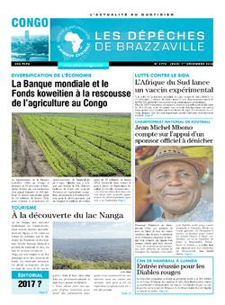Les Dépêches de Brazzaville : Édition brazzaville du 01 décembre 2016