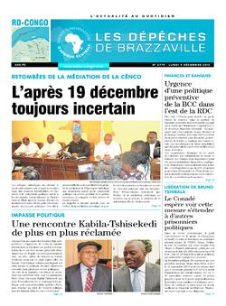 Les Dépêches de Brazzaville : Édition kinshasa du 05 décembre 2016