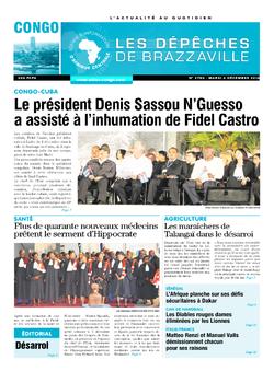Les Dépêches de Brazzaville : Édition brazzaville du 06 décembre 2016