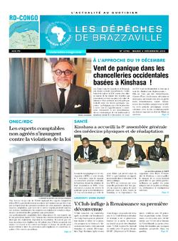Les Dépêches de Brazzaville : Édition kinshasa du 06 décembre 2016