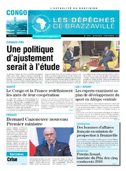 Les Dépêches de Brazzaville : Édition brazzaville du 07 décembre 2016