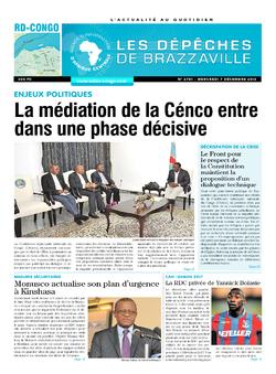 Les Dépêches de Brazzaville : Édition kinshasa du 07 décembre 2016