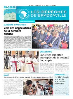 Les Dépêches de Brazzaville : Édition kinshasa du 08 décembre 2016