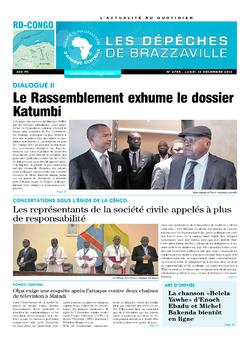 Les Dépêches de Brazzaville : Édition kinshasa du 12 décembre 2016