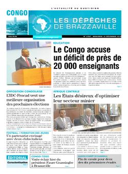 Les Dépêches de Brazzaville : Édition brazzaville du 14 décembre 2016