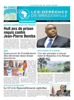 Les Dépêches de Brazzaville : Édition kinshasa du 14 décembre 2016