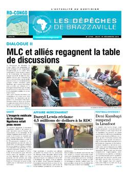 Les Dépêches de Brazzaville : Édition kinshasa du 15 décembre 2016