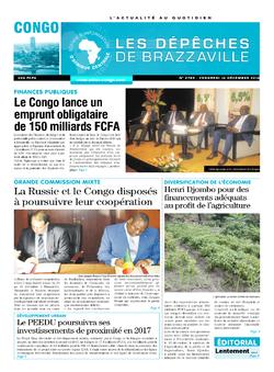 Les Dépêches de Brazzaville : Édition brazzaville du 16 décembre 2016