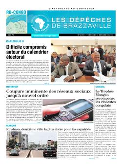 Les Dépêches de Brazzaville : Édition kinshasa du 16 décembre 2016
