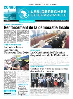 Les Dépêches de Brazzaville : Édition brazzaville du 19 décembre 2016