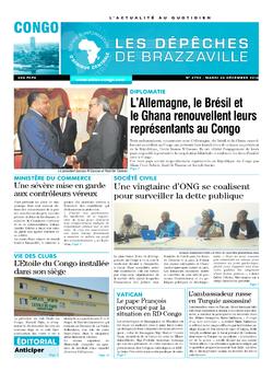 Les Dépêches de Brazzaville : Édition brazzaville du 20 décembre 2016