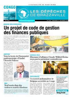 Les Dépêches de Brazzaville : Édition brazzaville du 21 décembre 2016