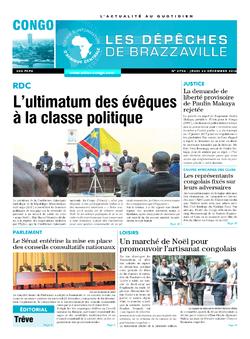 Les Dépêches de Brazzaville : Édition brazzaville du 22 décembre 2016
