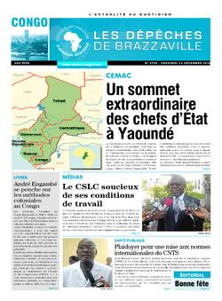 Les Dépêches de Brazzaville : Édition brazzaville du 23 décembre 2016