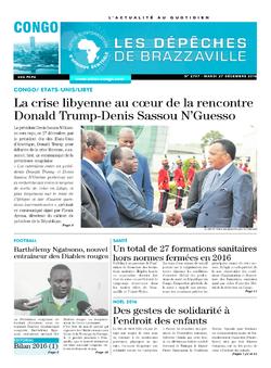 Les Dépêches de Brazzaville : Édition brazzaville du 27 décembre 2016
