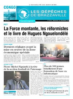 Les Dépêches de Brazzaville : Édition brazzaville du 28 décembre 2016
