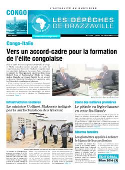 Les Dépêches de Brazzaville : Édition brazzaville du 29 décembre 2016