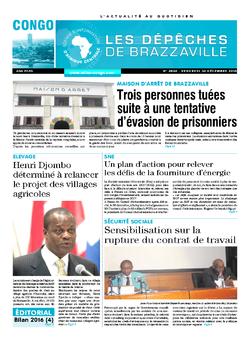 Les Dépêches de Brazzaville : Édition brazzaville du 30 décembre 2016