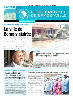 Les Dépêches de Brazzaville : Édition kinshasa du 30 décembre 2016