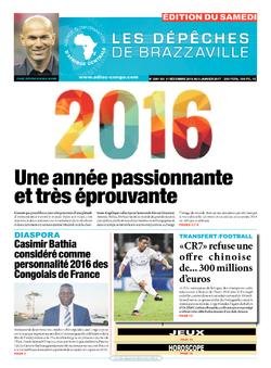 Les Dépêches de Brazzaville : Édition du 6e jour du 31 décembre 2016