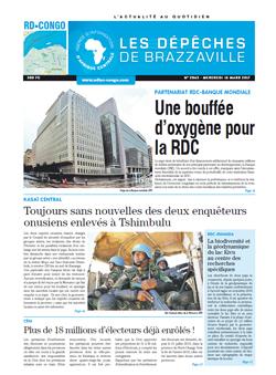 Les Dépêches de Brazzaville : Édition kinshasa du 15 mars 2017