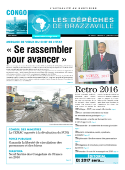 Les Dépêches de Brazzaville : Édition brazzaville du 03 janvier 2017