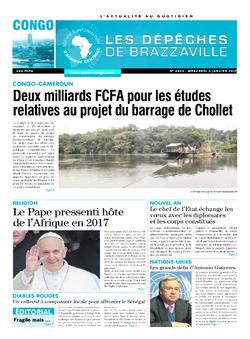 Les Dépêches de Brazzaville : Édition brazzaville du 04 janvier 2017
