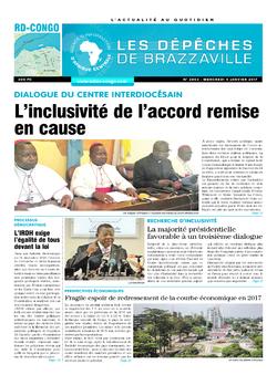 Les Dépêches de Brazzaville : Édition kinshasa du 04 janvier 2017