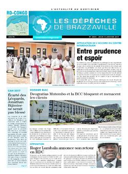 Les Dépêches de Brazzaville : Édition kinshasa du 05 janvier 2017