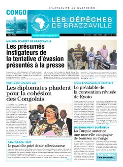 Les Dépêches de Brazzaville : Édition brazzaville du 06 janvier 2017