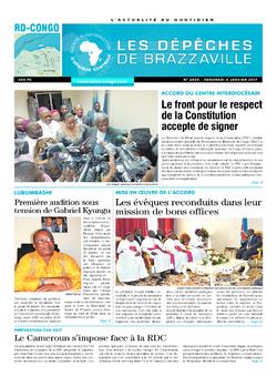 Les Dépêches de Brazzaville : Édition kinshasa du 06 janvier 2017