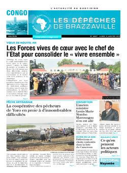Les Dépêches de Brazzaville : Édition brazzaville du 09 janvier 2017