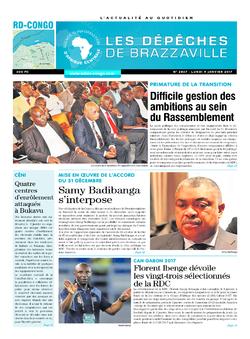 Les Dépêches de Brazzaville : Édition kinshasa du 09 janvier 2017