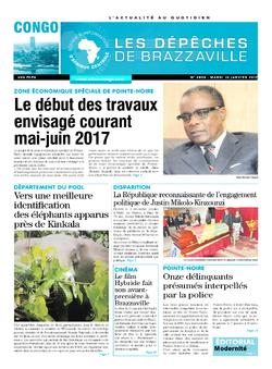 Les Dépêches de Brazzaville : Édition brazzaville du 10 janvier 2017