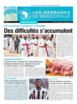 Les Dépêches de Brazzaville : Édition kinshasa du 10 janvier 2017
